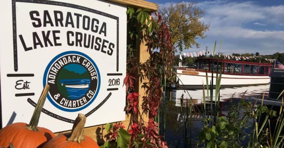 saratoga lake cruises sign