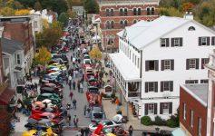 aerial view of ballston spa car show